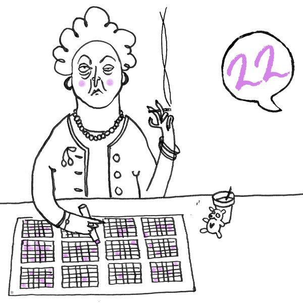 This is the Karo Rigaud 2014 Advent Calendar…#22 - Bingo - Granny