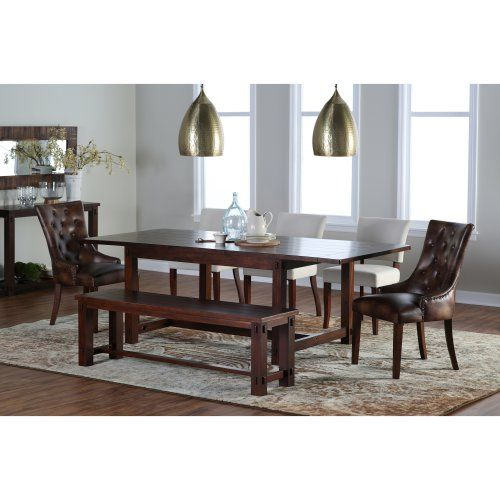 crate and barrel trestle extension dining table images