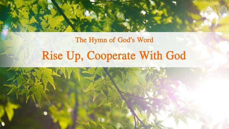 """The Hymn of God's Word """"Rise up, Cooperate With God"""" 