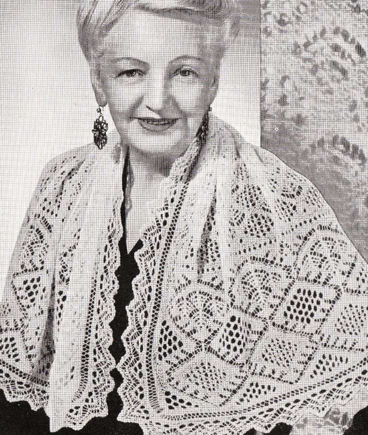 172 best images about Vintage knitted Shawls and scarves ...