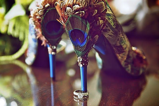 Peacock Shoes by Ambiance Chic Wedding Designs http://www.findambiance.com