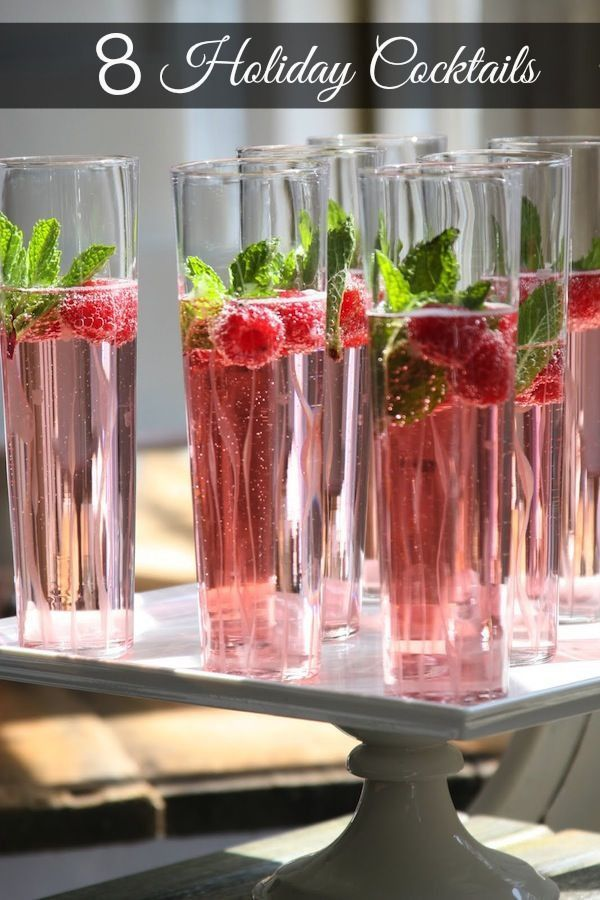 8 holiday party cocktail ideas