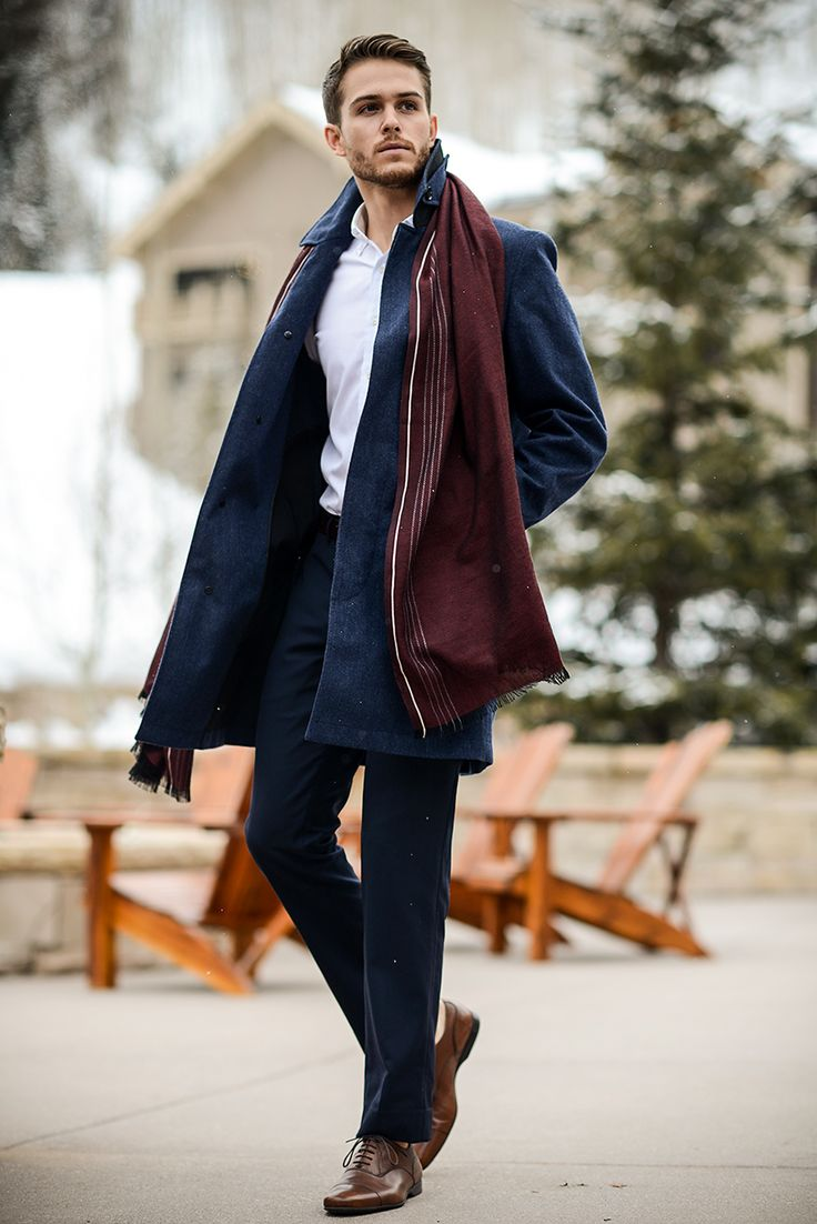 Reiss coat | Uniqlo shirt | Topman trousers | Zara oxfords | Gucci scarf | Get the look at http://iamgalla.com/2015/01/gucci-time/
