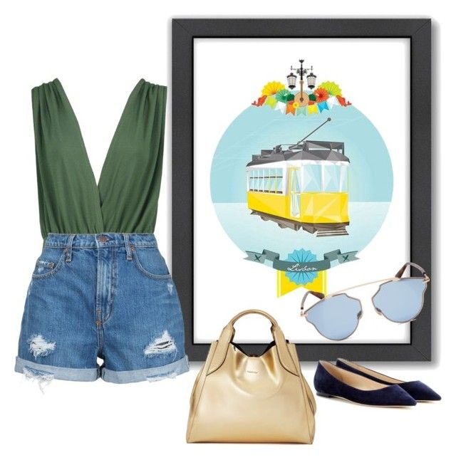 """""""Lisbon #3"""" by keila-camargo-barros ❤ liked on Polyvore featuring Americanflat, Boohoo, Nobody Denim, Lanvin, Christian Dior and Jimmy Choo"""