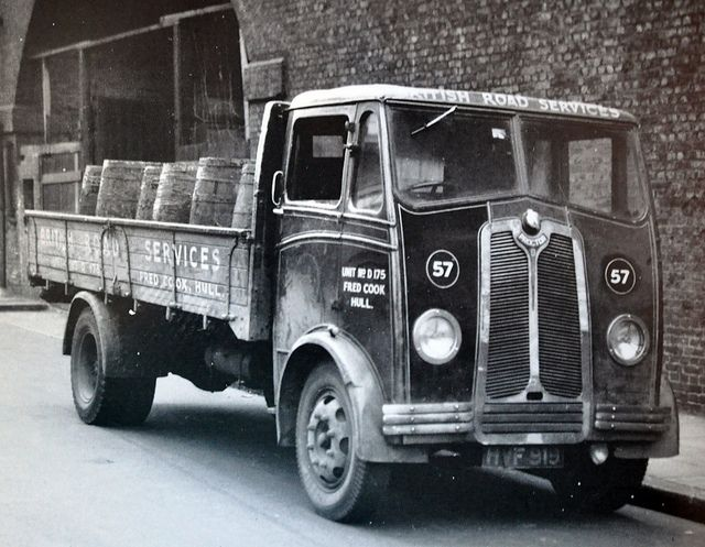 1949 Proctor. The concept & developement of this lorry was due to haulier Proctor Springwood of Mousehold, Norwich; on the basis of improving their fleet's performance. Designed in 1939, a prototype was built & tested, but due to the outbreak of war in that year, full production did not begin until 1945/46. Using a Perkins diesel engine & a Moss transmission, the Proctor was a lightweight lorry with a 6 to 7 ton payload.