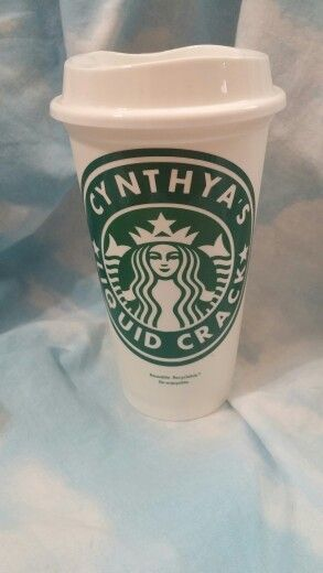 Personalized Starbucks Cups Using 651 Oracle Permanent
