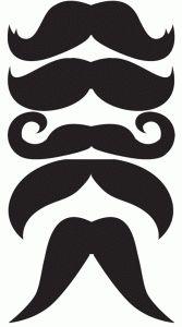 plantilla de bigotes – Tarjetas Imprimibles