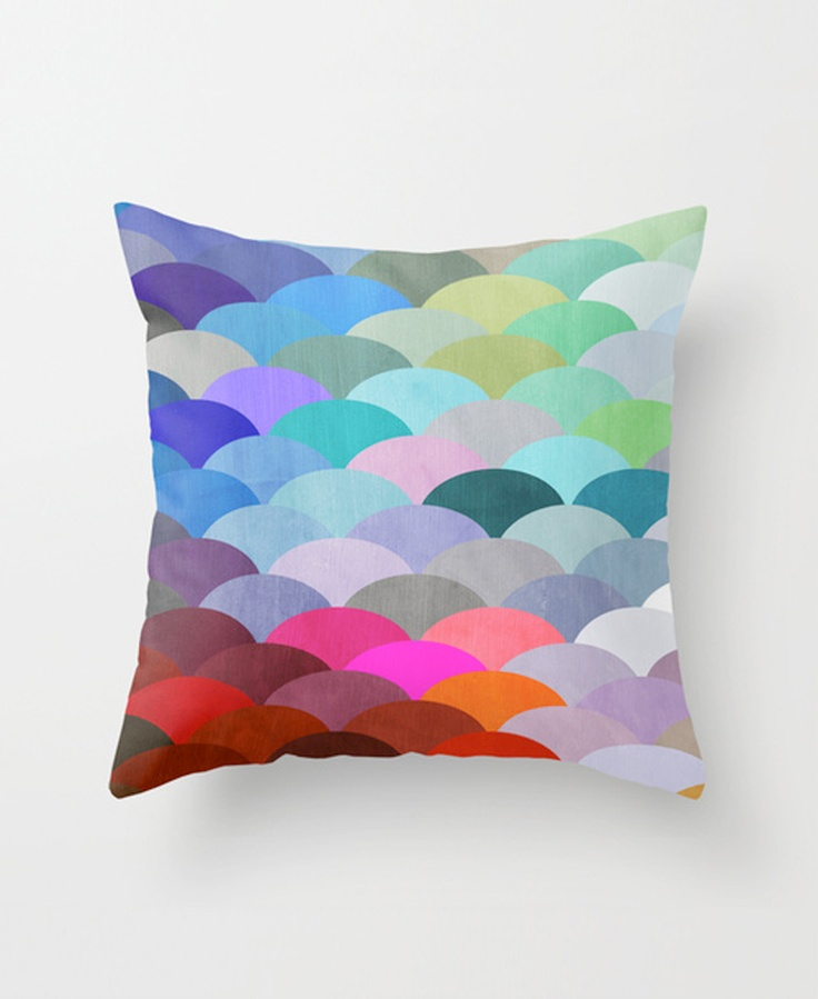 Spectrum scales throw pillow