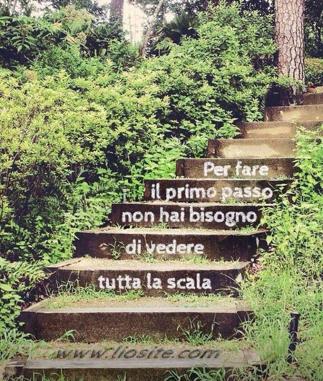 Per fare il primo passo non hai bisogno di vedere tutta la scala