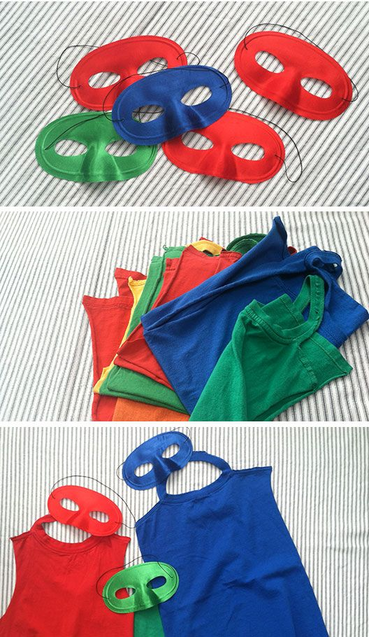 Superhero Birthday Party Ideas - DIY Capes  These are so easy! We made a bunch during testing.