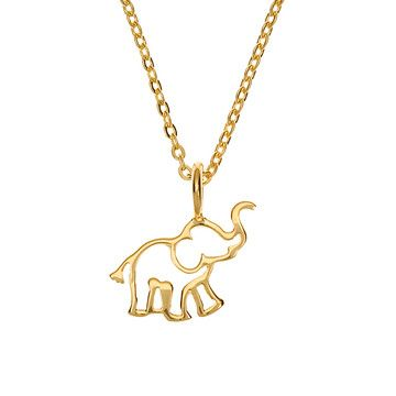 Elephant Necklace Gold Plate, $38, now featured on Fab.