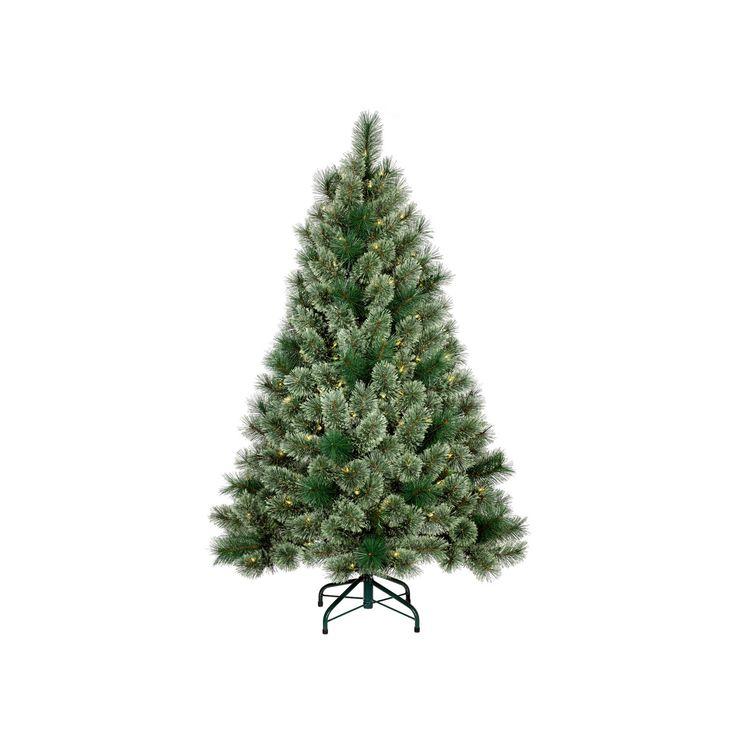 4.5ft Prelit Slim Artificial Christmas Tree Virginia Pine Clear Lights - Wondershop, Green