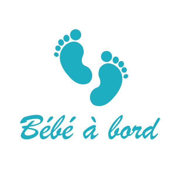 #sticker #bébé à bord, modèle Petits Pieds