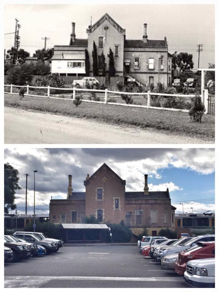 Emu Plains Railway Station 1950>2015 [1950: State Records NSW, 2015: Curt Flood. By Curt Flood]