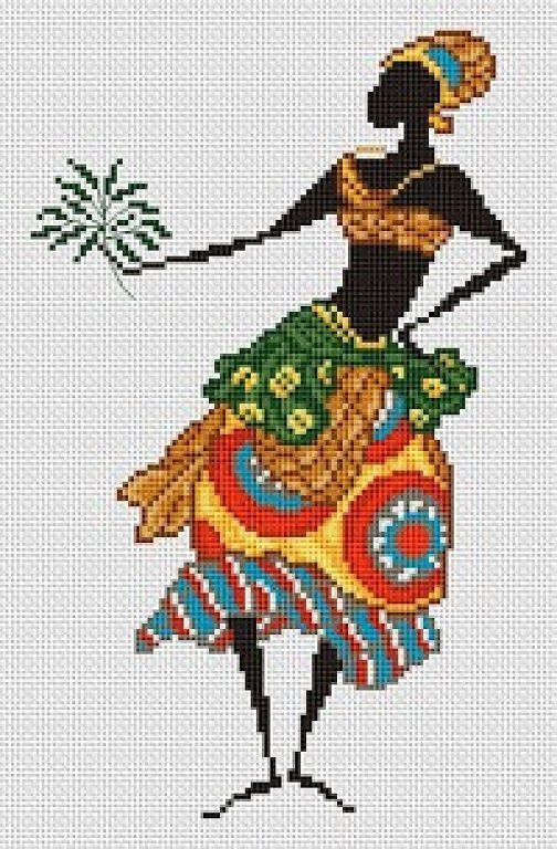 African x-stitch