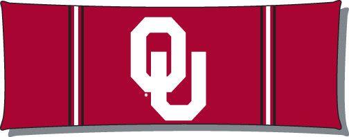 Oklahoma College Style 48x19 Body Pillow