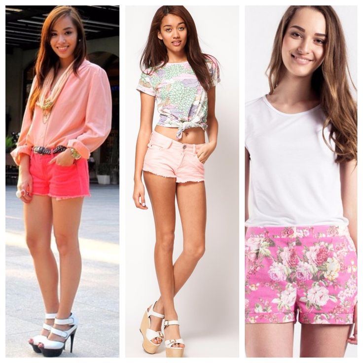 Розовые шорты : с чем носить модели розового цвета .