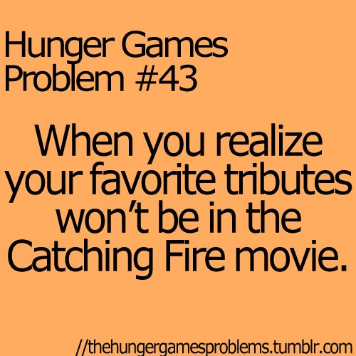 hunger games problems | Hunger Games Hunger Games Problems. It's so true though! I mean think about Cato he won't be in it :(
