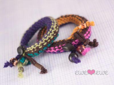 Knitship Bracelets {free knittingpattern}...Cute!