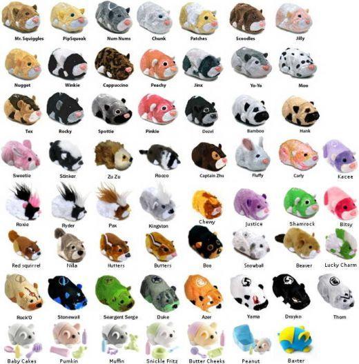 All the Zhu Zhu Pets