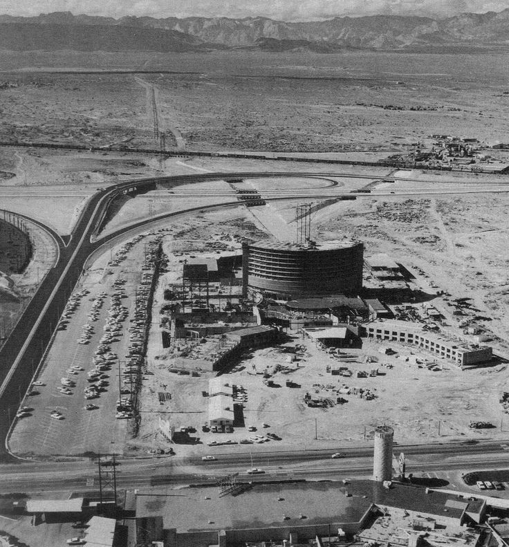 Vintage Las Vegas - Caesars Palace under construction, 1964 photo.