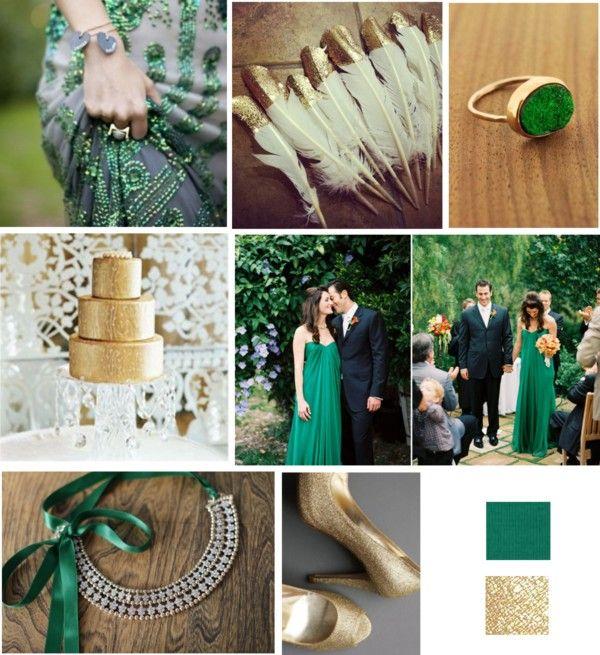 Emerald and Gold via Just Wenderful