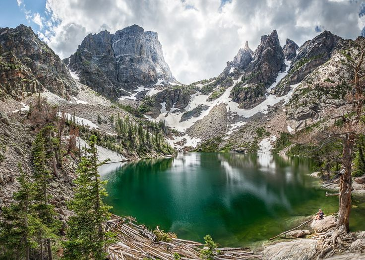 Emerald Lake in Rocky Mountain National Park, Colorado, hard to get here, but even more breathtaking in person
