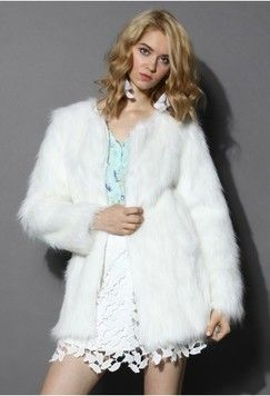 Chicwish Chicwish Glam White Faux Fur Coat Found on my new favorite app Dote Shopping #DoteApp #Shopping