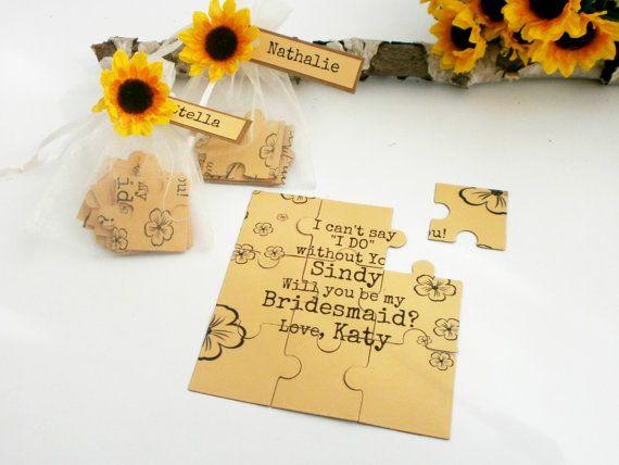 You Be My Maid of Honor Bridesmaid  Proposal card by VesyArtstudio