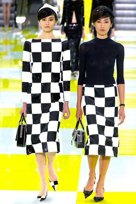 Louis Vuitton RTW S/S 2013.  Models L-R - Ming Xi & Gigi Jeon.