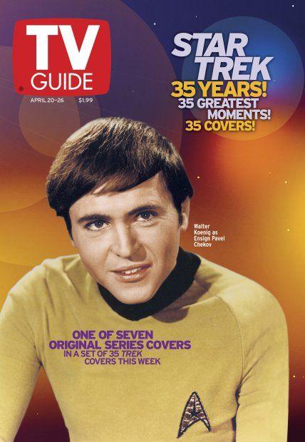 TV Guide April 20, 2002 (4 of 7) - Walter Koenig of Star Trek