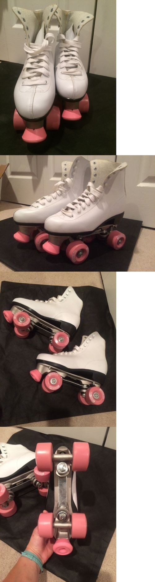 Amazing Indoor Roller Skating Chicago Ladies Quad Skates Size White And Pink New