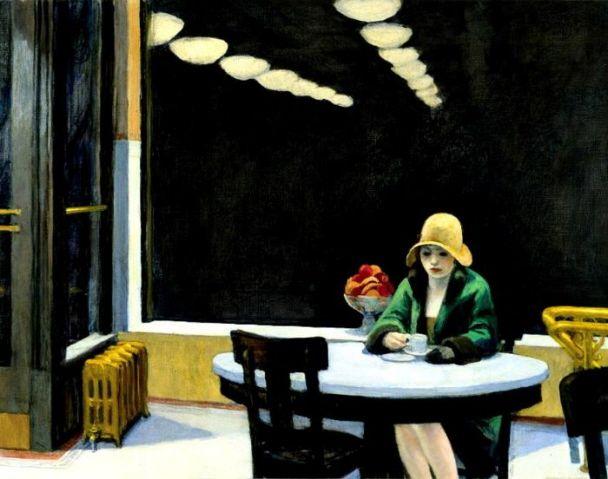 <자동판매식 식당(Automat)>, 에드워드 호퍼(Edward Hopper), 1927, 캔버스에 유채.