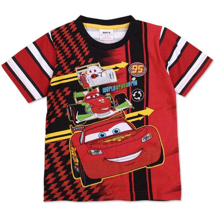 Летом Стиль Мальчиков Одежда Автомобиль для укладки Футболки для Мальчиков 100% Хлопок Нова Малыши Носят Модные Полосатые Одежды C2600