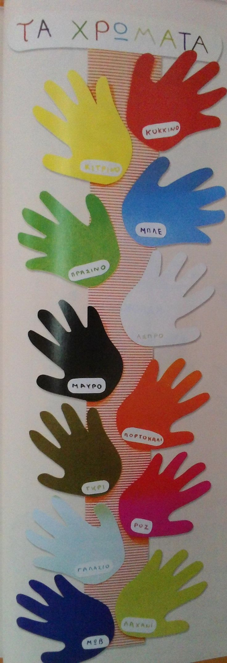 Handprints colors display