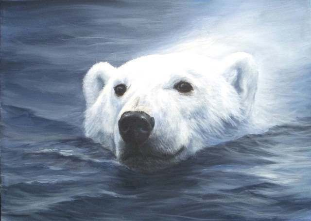 Art Apprentice Online - Downloadable Painting Pattern - Polar Bear Swim - Acrylic Wildlife Painting - by artist Glenice Moore , $9.95 (http://store.artapprenticeonline.com/downloadable-painting-pattern-polar-bear-swim-acrylic-wildlife-painting-by-artist-glenice-moore/)