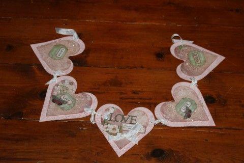 Charlottes Web Scrapbooking, Stamping & Papercraft - Heart Garland - Rachael