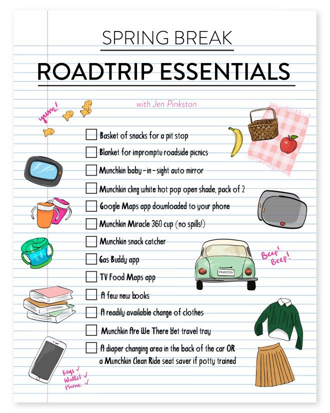 Spring Break || The Road Trip Essentials for traveling with kids by car! Happy travels!