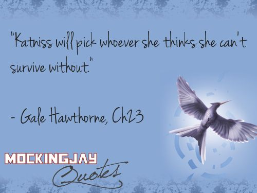 One of the only quotes I have for Gale.