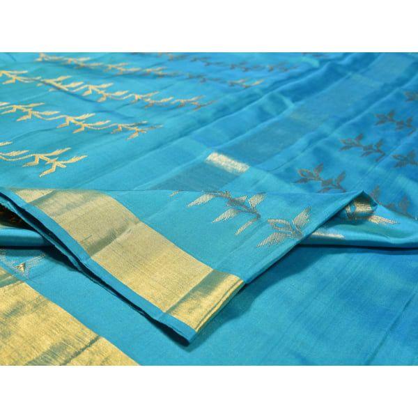 Blue Kanchipuram Silk  Saree with Diagonal Pattern Design k0140
