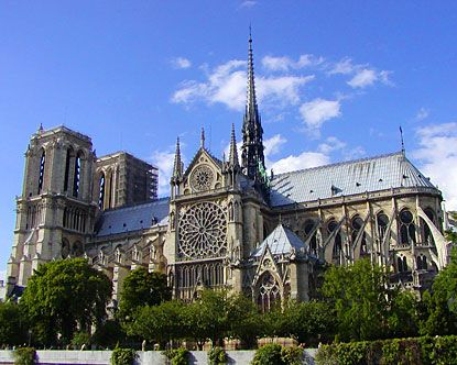 Notre Dame Cathedral, Paris...went up into the bell tower; don't think they do that anymore.