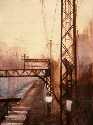 "Saatchi Art Artist Marta Zamarska; Drawing, ""Postcard from the Journey II (sold)"" #art"