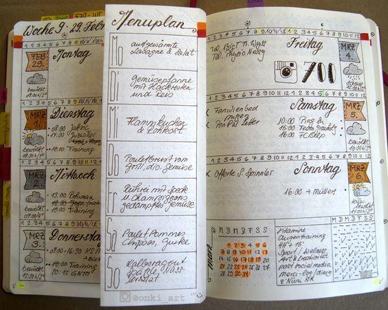 Bullet Journal Wochenserie Woche 09