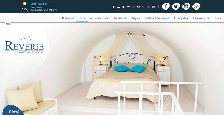 Το ξενοδοχείο Reverie στη Σαντορίνη, έχοντας υλοποιήσει παλαιότερα την ιστοσελίδα του reverie.gr, στην All about Business, προχώρησε σε ανασχεδιασμό και αναβάθμιση της πλατφόρμας ebooking.