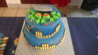 *GOUX 'R' MANDISES: Gâteau tortue ninja 2