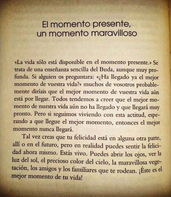 〽️El momento presente, un momento maravilloso