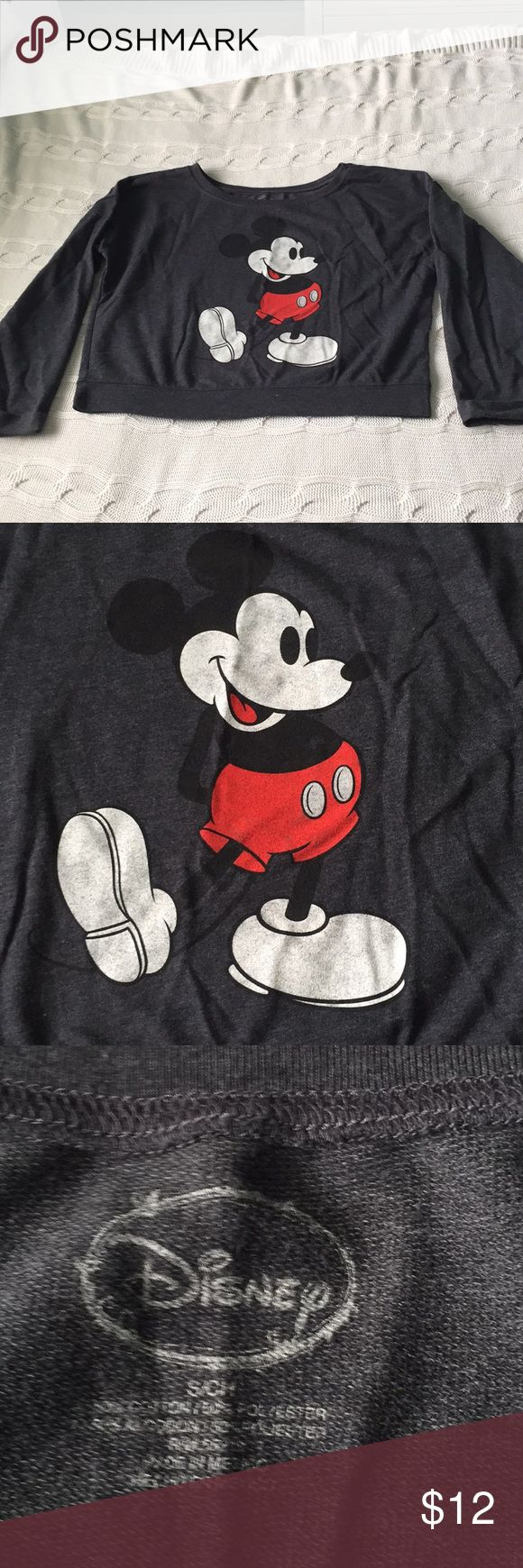 """Disney Mickey Mouse pullover Sweater Disney Mickey Mouse Sweater Adorable, official from Disney Mickey has some minor decorations   Make your offer. Feel free  Its a S/ch size but it runs large, see measurements below  Shoulders 22"""" Chest 22"""" Lenght 20""""  Item loc blue posh  012018 Disney Sweaters"""