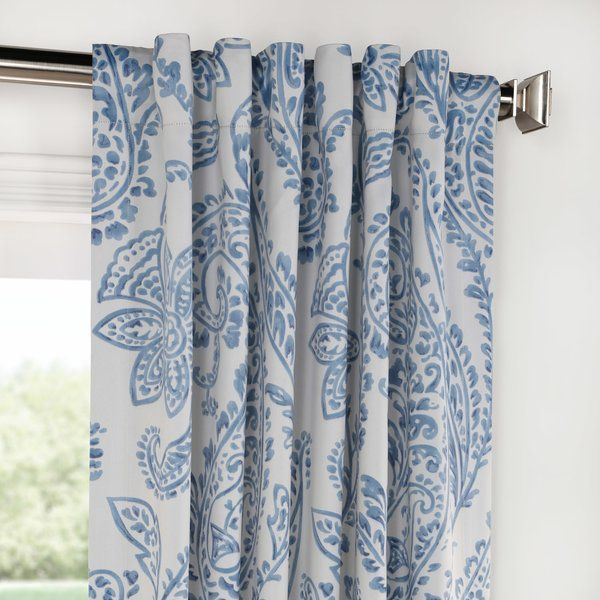Bryton Floral Room Darkening Rod Pocket Single Curtain Panel Panel Curtains Curtains Custom Drapes
