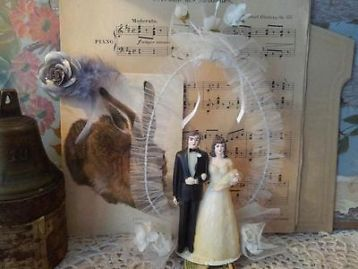 ≥ Vintage bruidstaart/opzetstuk. - Feestartikelen - Marktplaats.nl