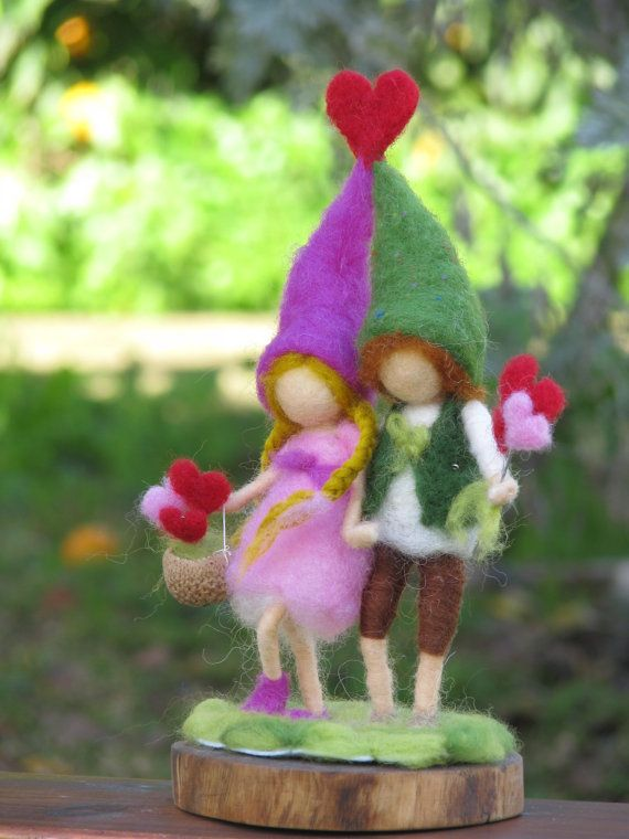 Yes, I love you, Valentine's Day needle felted gift, Waldorf inspired. $85.00, via Etsy.